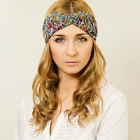 Turban Headscarf Flower Headband Head Band Turban Headband Accessory Headband Turban Headband Flower Hair Band Hair Wrap Head Scarf Floral