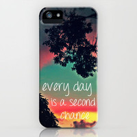 Every day is a second chance! iPhone Case by Louise Machado