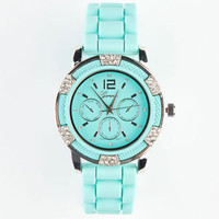 Silicone Band Watch Mint One Size For Women 21495852301