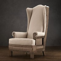 Deconstructed Highback Wing Chair | Chairs | Restoration Hardware