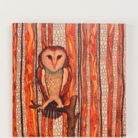 Wax Owl Wall Art by Jenny Keith Hughes
