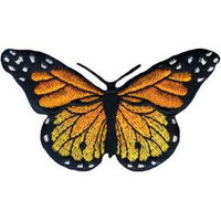 Monarch Butterfly Iron On Applique