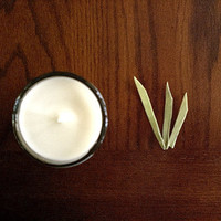Grass Soy Candle - fresh cut grass, summer, outdoors, highly fragrant