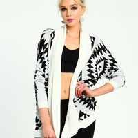 Geometric Flyaway Cardigan