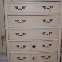 6 drawer dresser in Old World Whitewith by EclecticBungalowRI