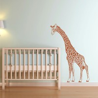 Giraffe Mother looking down Nursery Wall Decal