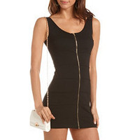 Zip-Front Bandage Dress: Charlotte Russe