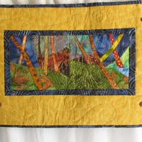 Evening Forest by sewsandyfiberart on Etsy