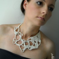 Crochet okapi summer necklace by okapiknits on Etsy