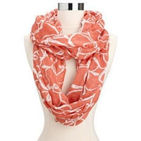 Ribbon Bow Print Infinity Scarf: Charlotte Russe