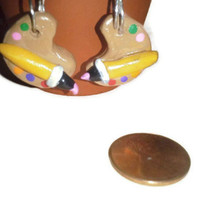 Paint Pallet Dangles, Artist Earrings, Polymer Clay Charms, Unique Jewelry