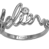 Disney Couture Believe Ring - Platinum Plated Size 7