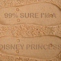99% Sure I&#x27;m a Disney Princess Custom Sand Imprint Flip Flops
