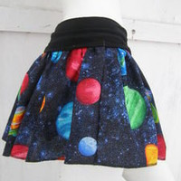 Intergalactic Skirt shirt S-XL geek Galaxy print planet Milky Way Space
