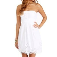 White Embroidered Sundress