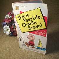 Vintage Paperback,  Comic Strip Book, This is Your Life, Charlie Brown, Charles Schulz, Peanuts Characters, Snoopy, TKSPRINGTHINGS