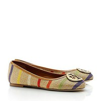 Striped Reva Ballet Flat