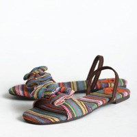 Guatemala Striped Sandals By Rocket Dog | Modern Vintage Shoes
