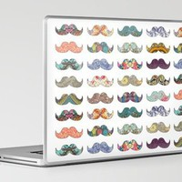 Mustache Mania Laptop & iPad Skin by Bianca Green | Society6