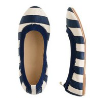 Girls&#x27; Mila ballet flats in grosgrain stripe - flats &amp; moccasins - Girl&#x27;s shoes - J.Crew