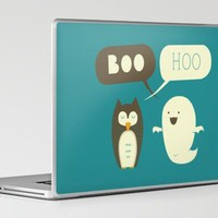 Boo Hoo Laptop & iPad Skin by AGRIMONY // Aaron Thong | Society6