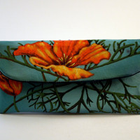 California Poppies Small Wallet Clutch by roxannaahlborn on Etsy