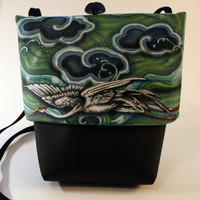 Flying Crane Small Grommet Bag by roxannaahlborn on Etsy