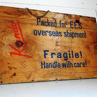 Vintage Packing Crate Panel Wall Hanging by LeMaisonBelle on Etsy