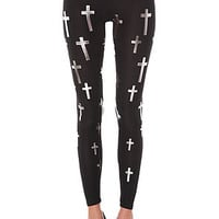 See You Monday Believer Legging in Silver