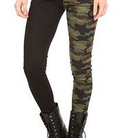 Royal Bones Camo Split Leg Skinny Jeans - 770740