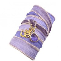 Silk Ribbon Wrap with Gold Om Charm | charmed design