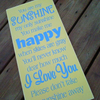 Wooden Sign You are my Sunshine NEW by dressingroom5 on Etsy