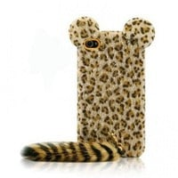 Funny Leopard Print iPhone 5 Cases with Panther Tail