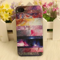 Galaxy Painted Colorful Star  Hard Cover Case For Iphone 4/4s/5