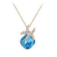 Starfish Crystal Pendant Necklace
