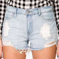 Destroyed Denim Cutoff Shorts | FOREVER 21 - 2030186050