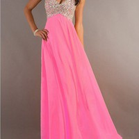 2013 Long Beaded Strapless Sweetheart Prom/Graduation Dress