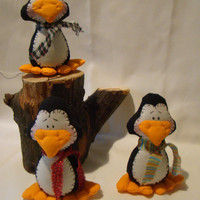 Soft Penguin Toys to Hang and Adore by DvergenArtz on Etsy