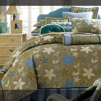Wildon Home Flower Power Complete Bed Comforter Set - 18221311 - All Bedding Sets - Bedding Sets - Bed & Bath