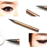 Black Waterproof Precision Liquid Eyeliner Smudge Proof Makeup Pencil Eye Liner