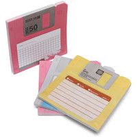 ThinkGeek :: Floppy Disk Sticky Notes