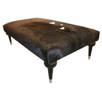 TLS by Design Custom Furniture Hair-on-Hide Ottoman