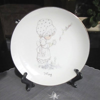 Precious Moments May decorative plate, Jonathan &amp; David 1983 Enesco, May is but a breath of Spring