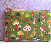 Zip Pouch Card Gadget Coin Case Padded by toteallaccessories