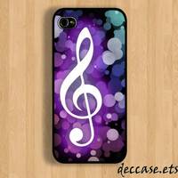 iPhone case IPHONE 5 CASE  G-clef music lyrics note  iPhone 4 case iPhone 4S caseHard Plastic Case Rubber Case