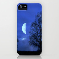 Moon between Trees iPhone Case by JUSTART