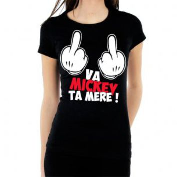 t shirt va mickey ta m re femme from. Black Bedroom Furniture Sets. Home Design Ideas