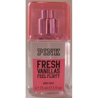 Amazon.com: Victoria&#x27;s Secret Pink Fresh Vanillas &quot;Feel Flirty&quot; Body Mist 75ml/ 2.5 Fl 0z Travel Size: Beauty