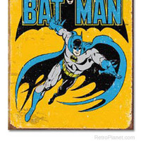Batman Vintage Comics Tin Sign | Superhero Tin Signs | RetroPlanet.com