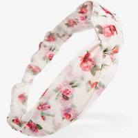 Floral Print Headwrap